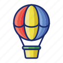 air, balloon, hot, hot air balloon icon