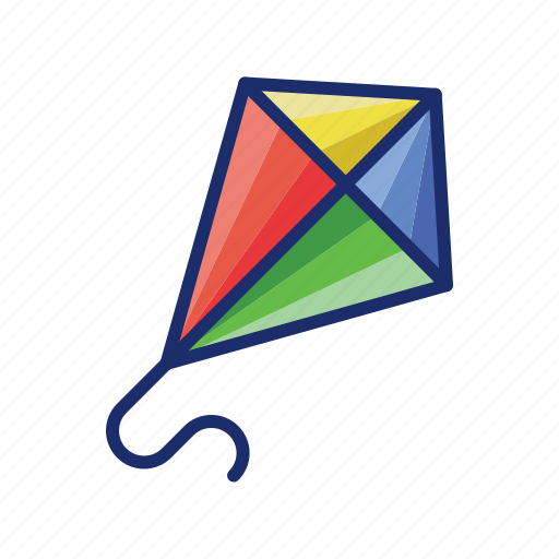 Flying, fun, kite, sky icon - Download on Iconfinder