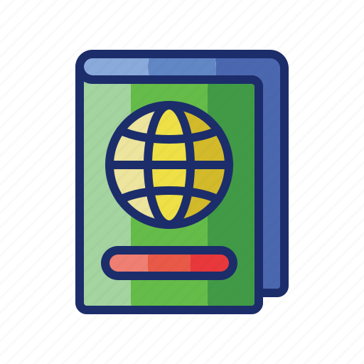 document, passport, travel, visa icon