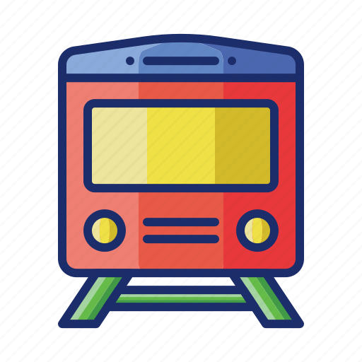 Rail, railway, train, vehicle icon - Download on Iconfinder