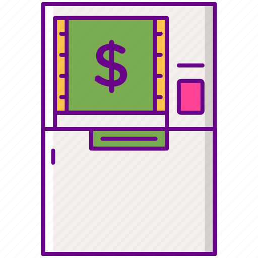 atm, bank, card, money icon