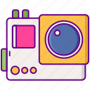 action camera, photo, record icon