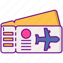 ticket, travel, vacation, boarding pass