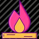 bonfire, camping, fire, flame