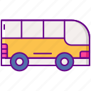 bus, school, vehicle icon