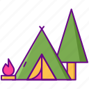 camping, campsite, nature, outdoors icon