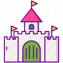 architecture, building, castle, tower icon