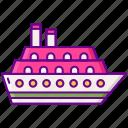 boat, cruise, sea, ship