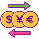 bank, coin, currency, money icon