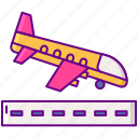 airport, flight, landing, plane icon