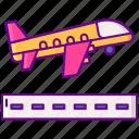 airport, flight, plane, takeoff