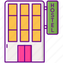 building, construction, hostel, hotel icon