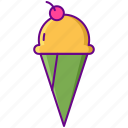 cone, dessert, ice cream icon