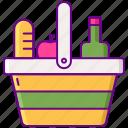 basket, food, picnic icon