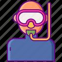 diving, goggle, scuba, snorkeling icon