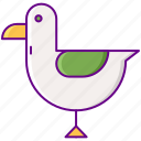 animal, bird, seagull icon