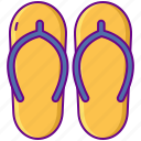 beach, flip flops, slippers, summer icon