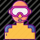 dive, goggle, scuba, snorkeling icon