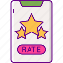 apps, rate, rating, star icon