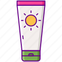 beach, lotion, sun, sunblock icon