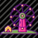 amusement, ferris wheel, theme park icon