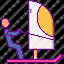 activity, surf, wind, windsurfing icon