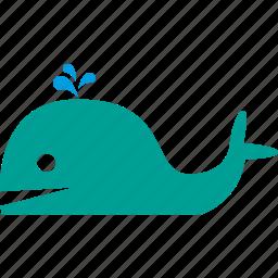 animal, mammal, marine, ocean, sea, whale icon