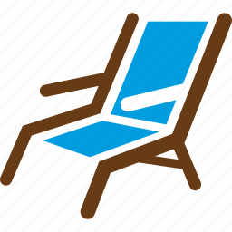 beach, chair, seat, vacation icon