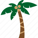 beach, coconut, nature, palm, plant, tree icon