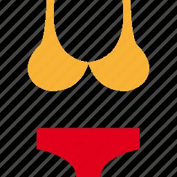 bikini, swimsuit, swimwear, woman, women icon