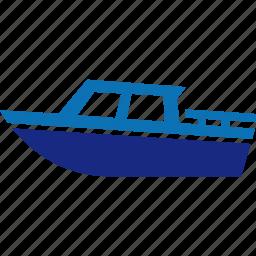 boat, marine, motor, nautical, ocean, sailing icon