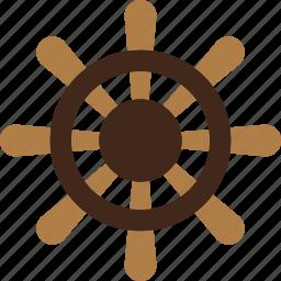 boat, ocean, rudder, sea, wheel icon
