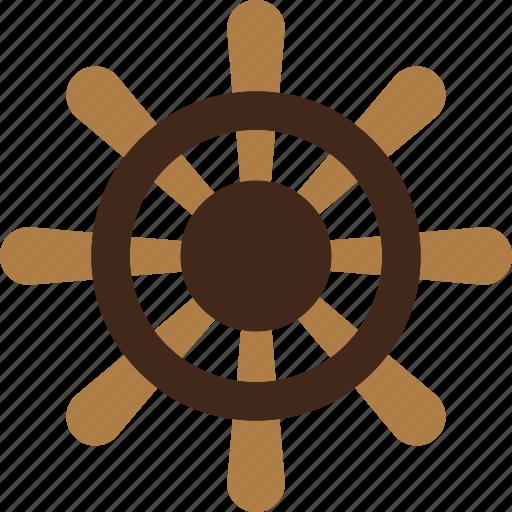 Boat, ocean, rudder, sea, wheel icon - Download on Iconfinder