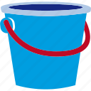 bucket, can, plastic, sand, sandcastle icon
