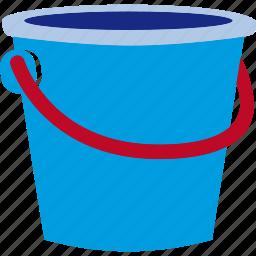 bucket, can, plastic, sand, sandcastle icon