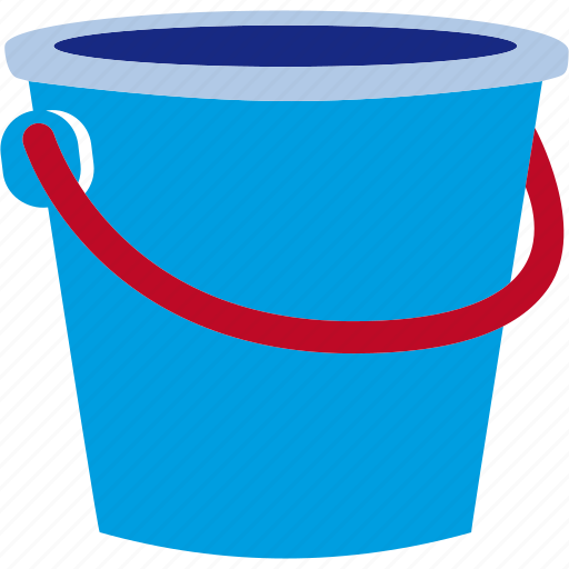 Bucket, can, plastic, sand, sandcastle icon - Download on Iconfinder