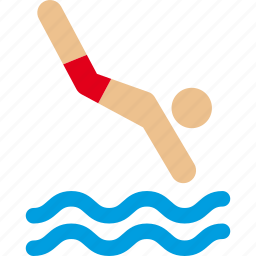 dive, diving, ocean, pool, sea, swim, swimming icon