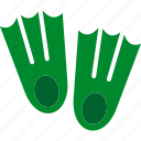 dive, equipment, fins, scuba, snorkeling icon