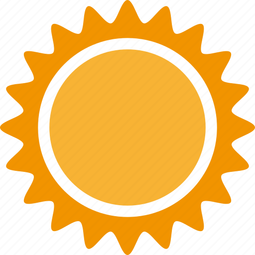 heat, light, sun, sunny, weather icon