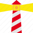 land, lighthouse, marine, nautical, navigation icon