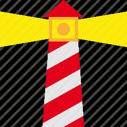 land, lighthouse, marine, nautical, navigation icon