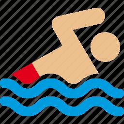 ocean, pool, swim, swimmer, swimming, water icon