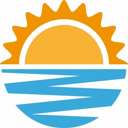 Ocean, sea, sun, sunny, sunset, vacation icon - Download on Iconfinder
