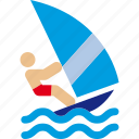 sea, sport, waves, wind, windsurf icon