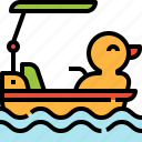 boat, duck, funfair, ship, water icon