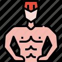 avatar, man, summer, user, workout icon