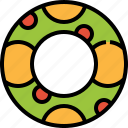 float, life, preserver, ring, rubber, safety icon
