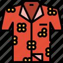 clothes, clothing, fashion, hawaii, shirt icon