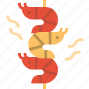 barbeque, food, grill, seafood, shrimp icon