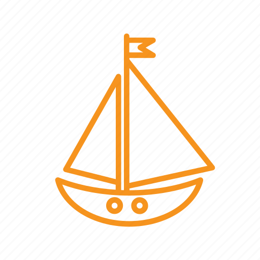 boat, nautical, sailing, sea, ship, vacation icon